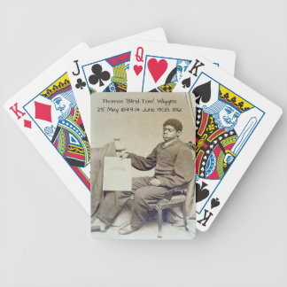 "Thomas ""Blind Tom"" Wiggins, 1861 Bicycle Playing Cards"
