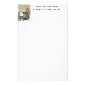 """Thomas """"Blind Tom"""" Wiggins, 1861 Stationery"""