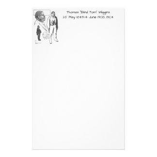 """Thomas """"Blind Tom"""" Wiggins, 1904 Stationery"""
