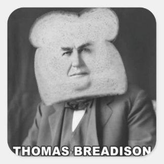Thomas Breadison Pegatina Cuadrada