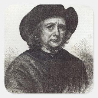 Thomas Britton, the Musical Small-coal Man Square Sticker