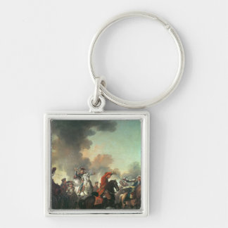 Thomas Brown at the Battle of Dettingen Keychain
