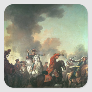Thomas Brown at the Battle of Dettingen Square Sticker