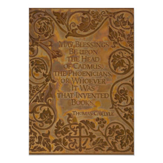 Thomas Carlyle quote on books Cards