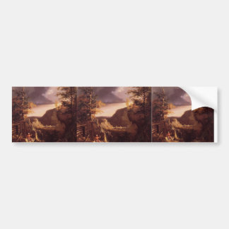 Thomas Cole- Daniel Boone Sitting at the Door Bumper Stickers