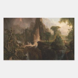 Thomas Cole - Expulsion from the Garden of Eden Rectangular Sticker