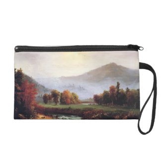 Thomas Cole- Morning Mist Rising In Plymouth Wristlet Purses