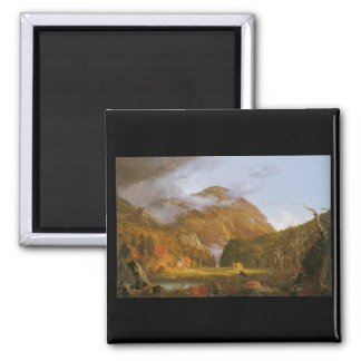 Thomas Cole Notch of the White Mountains 2 Inch Square Magnet