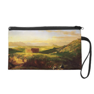 Thomas Cole-Temple of Segesta,Artist Sketching Wristlet Clutches