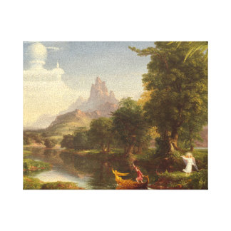 Thomas Cole The Voyage Of Life Youth Vintage Art Canvas Print