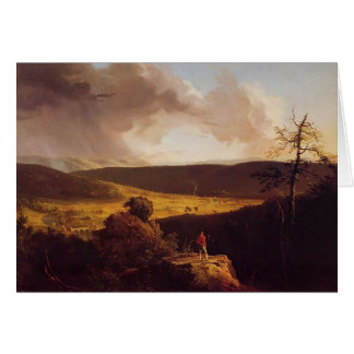 Thomas Cole- View of L`Esperance Schoharie River Greeting Cards