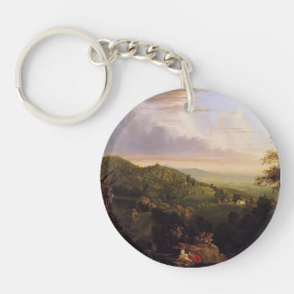 Thomas Cole- View of Monte Video Seat of Daniel Single-Sided Round Acrylic Keychain
