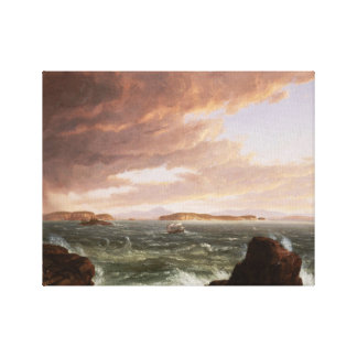 Thomas Cole - Views Across Frenchman's Bay Canvas Print