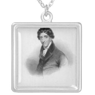 Thomas Coutts, Esq. drawn by A. Chisholm Square Pendant Necklace