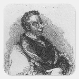 Thomas Curson Hansard, 1824 Calcomanía Cuadrada Personalizada