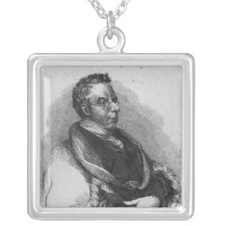 Thomas Curson Hansard, 1824 Square Pendant Necklace