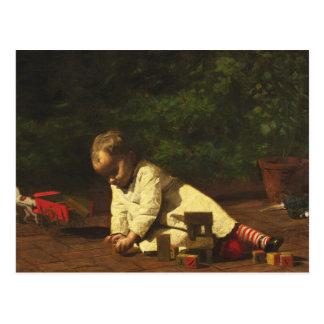 Thomas Eakins - bebé en el juego Postales