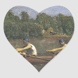 Thomas Eakins Biglin Brothers Racing Heart Sticker
