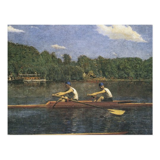 Thomas Eakins Biglin Brothers Racing Postcard