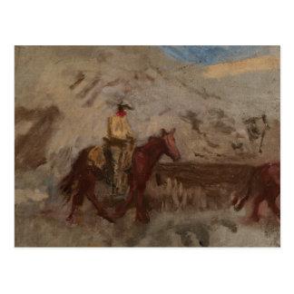 Thomas Eakins - bosquejo de un vaquero en el Postales