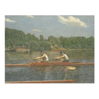 Thomas Eakins - el competir con de los hermanos de Tarjeta Postal