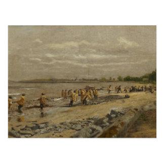 Thomas Eakins - Hauling the Seine Postcard