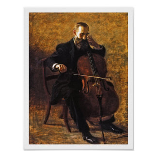 Thomas Eakins Painting: The Cello Player Poster