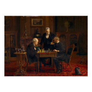 Thomas Eakins The Chess Players Poster