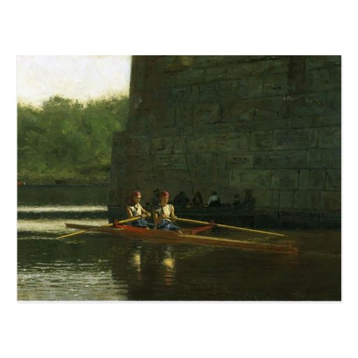 Thomas Eakins- The Oarsmen (Schreiber Brothers) Postcards