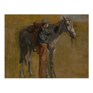 Thomas Eakins - vaquero: Estudio para los vaqueros Tarjetas Postales