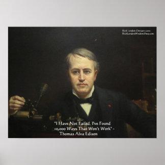"Thomas Edison ""10,000 Ways"" Wisdom Quote Posters"