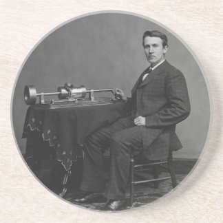 Thomas Edison and His Early Phonograph Coaster