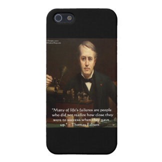 "Thomas Edison ""B4 Success"" Wisdom Quote Gifts Cover For iPhone SE/5/5s"