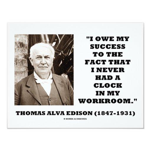 Thomas Edison debe éxito nunca tenía taller del Anuncios Personalizados