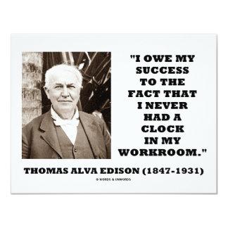 Thomas Edison debe éxito nunca tenía taller del Invitación 10,8 X 13,9 Cm