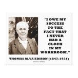 Thomas Edison debe éxito nunca tenía taller del re Impresiones En Lienzo Estiradas