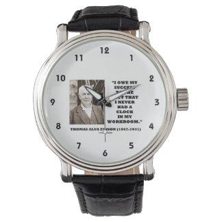 Thomas Edison debe éxito nunca tenía taller del Relojes De Pulsera