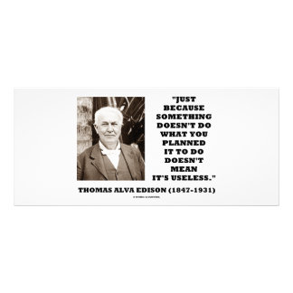 Thomas Edison Doesn't Mean Its Useless Quote Rack Card Template