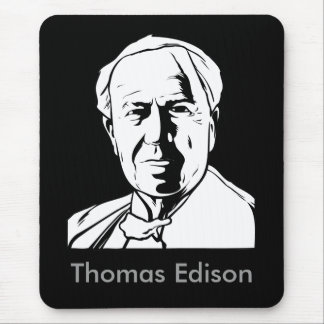 Thomas Edison - genio real Tapetes De Ratón