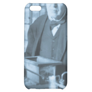 Thomas Edison in His Lab Stereoview Cyan Toned iPhone 5C Case