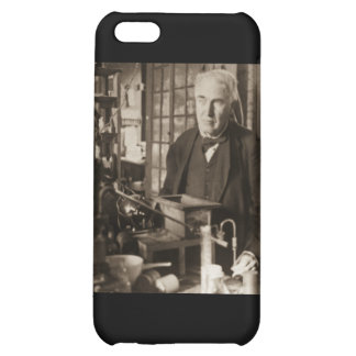 Thomas Edison in His Lab Stereoview iPhone 5C Covers