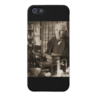 Thomas Edison in His Lab Stereoview Covers For iPhone 5