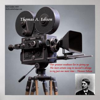 """Thomas Edison """"intento para tener éxito"""" el poster"""
