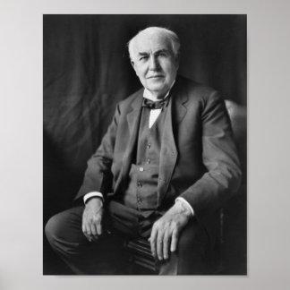 Thomas Edison - Inventor and Businessman Poster