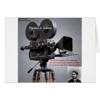 """Thomas Edison """"One More Time"""" Quote Greeting Cards"""