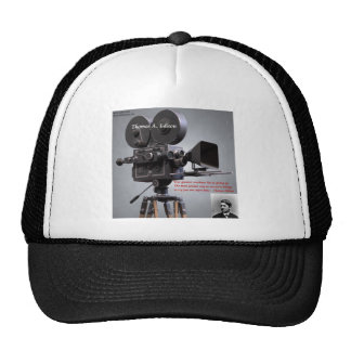 """Thomas Edison """"One More Time"""" Quote Hat"""