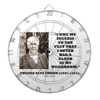 Thomas Edison Owe Success Never Had Clock Workroom Dartboard