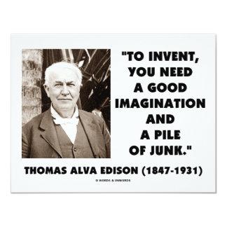 Thomas Edison para inventar la pila de la Invitacion Personalizada