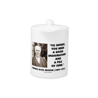 Thomas Edison para inventar la pila de la