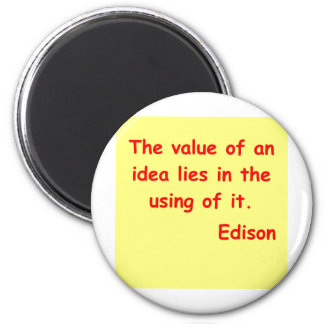 Thomas Edison quote 2 Inch Round Magnet